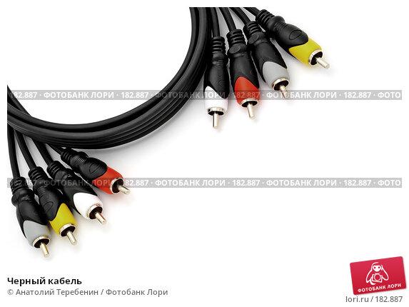 Черный кабель, фото № 182887, снято 12 января 2008 г. (c) Анатолий Теребенин / Фотобанк Лори