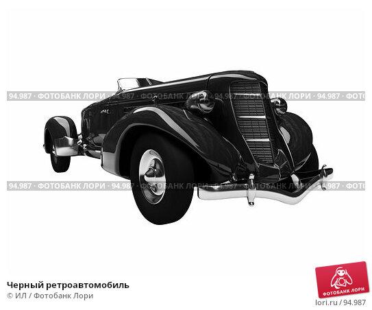 Черный ретроавтомобиль, иллюстрация № 94987 (c) ИЛ / Фотобанк Лори