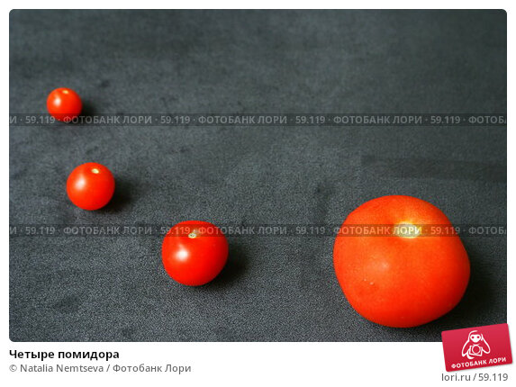 Купить «Четыре помидора», эксклюзивное фото № 59119, снято 25 июня 2007 г. (c) Natalia Nemtseva / Фотобанк Лори