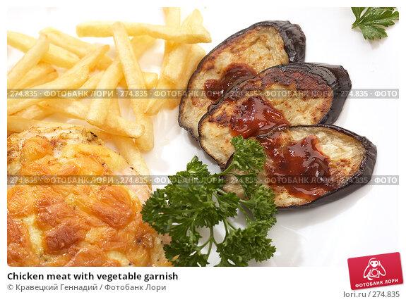 Купить «Chicken meat with vegetable garnish», фото № 274835, снято 23 ноября 2005 г. (c) Кравецкий Геннадий / Фотобанк Лори