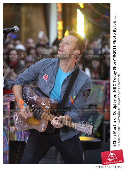 #Chris Martin of Coldplay on.NBC 'Today Show'10-2011.Photo By John... Редакционное фото, фотограф Adam Scull / age Fotostock / Фотобанк Лори