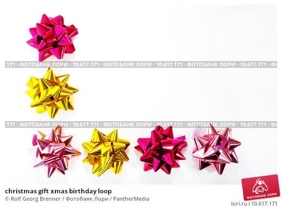 christmas gift xmas birthday loop. Стоковое фото, фотограф Rolf Georg Brenner / PantherMedia / Фотобанк Лори
