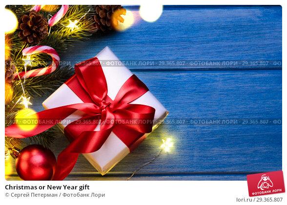 Купить «Christmas or New Year gift», фото № 29365807, снято 15 января 2019 г. (c) Сергей Петерман / Фотобанк Лори