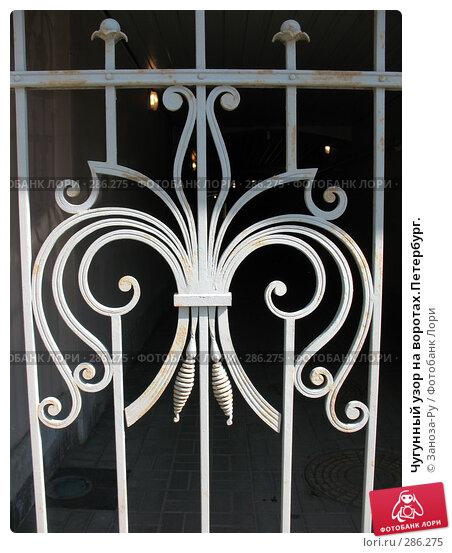 Чугунный узор на воротах.Петербург., фото № 286275, снято 11 мая 2008 г. (c) Заноза-Ру / Фотобанк Лори