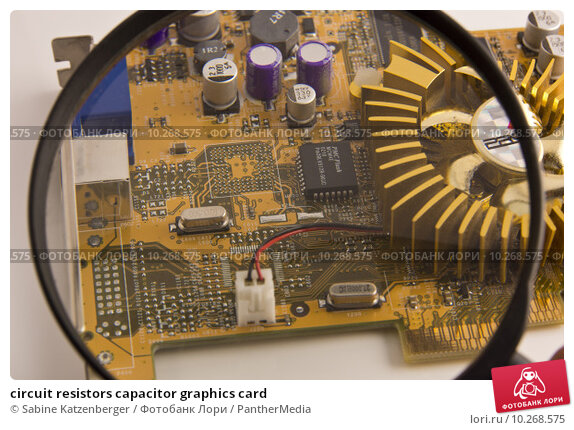 Купить «circuit resistors capacitor graphics card», фото № 10268575, снято 23 марта 2019 г. (c) PantherMedia / Фотобанк Лори