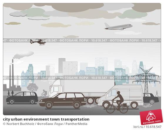 city urban environment town transportation. Стоковая иллюстрация, иллюстратор Norbert Buchholz / PantherMedia / Фотобанк Лори