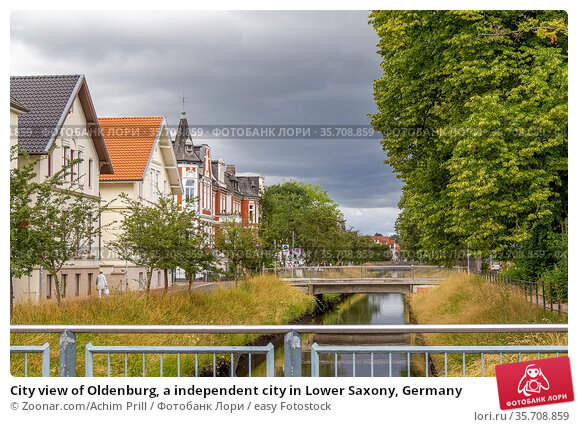 City view of Oldenburg, a independent city in Lower Saxony, Germany. Стоковое фото, фотограф Zoonar.com/Achim Prill / easy Fotostock / Фотобанк Лори