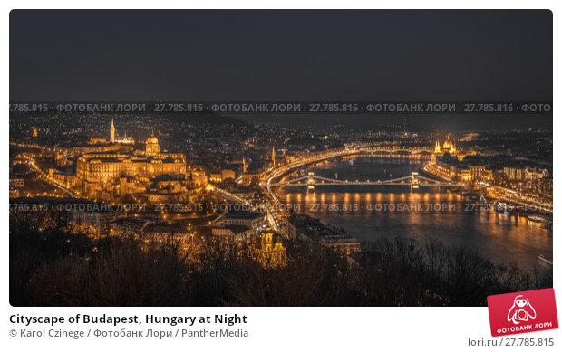 Купить «Cityscape of Budapest, Hungary at Night», фото № 27785815, снято 16 октября 2018 г. (c) PantherMedia / Фотобанк Лори