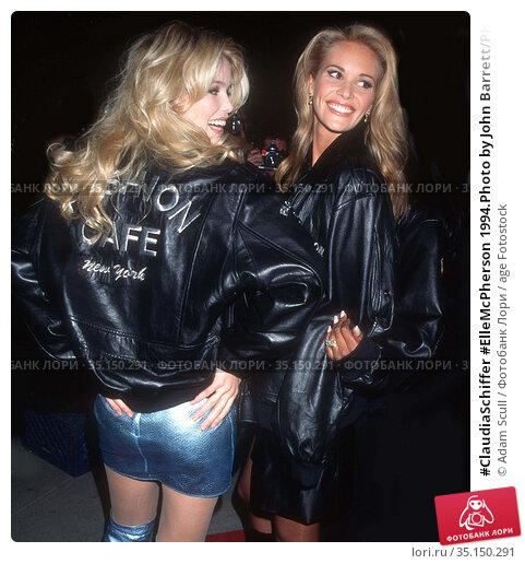 #ClaudiaSchiffer #ElleMcPherson 1994.Photo by John Barrett/PHOTOlink... Редакционное фото, фотограф Adam Scull / age Fotostock / Фотобанк Лори