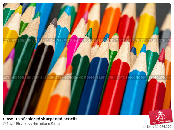 Купить «Close-up of colored sharpened pencils», фото № 31954279, снято 19 апреля 2019 г. (c) Pavel Biryukov / Фотобанк Лори