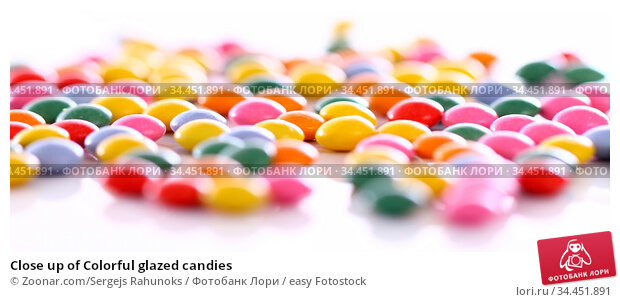 Close up of Colorful glazed candies. Стоковое фото, фотограф Zoonar.com/Sergejs Rahunoks / easy Fotostock / Фотобанк Лори