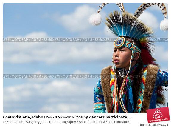 Coeur d'Alene, Idaho USA - 07-23-2016. Young dancers participate ... Стоковое фото, фотограф Zoonar.com/Gregory Johnston Photography / age Fotostock / Фотобанк Лори