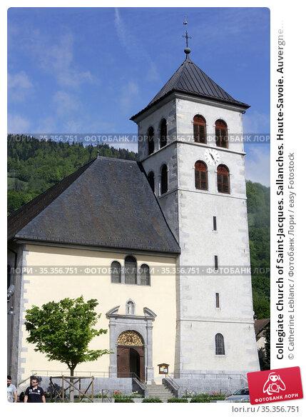 Collegiate Church of Saint-Jacques. Sallanches. Haute-Savoie. Auvergne... Стоковое фото, фотограф Catherine Leblanc / easy Fotostock / Фотобанк Лори