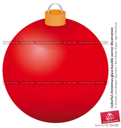Colorful christmas glass bauble vector illustration. Стоковое фото, фотограф Zoonar.com/Kasper Nymann / age Fotostock / Фотобанк Лори