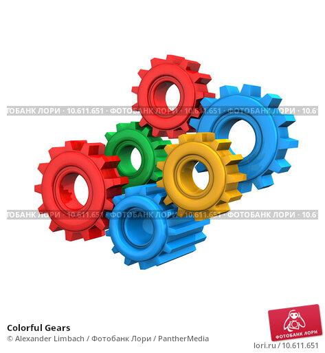 Colorful Gears. Стоковое фото, фотограф Alexander Limbach / PantherMedia / Фотобанк Лори