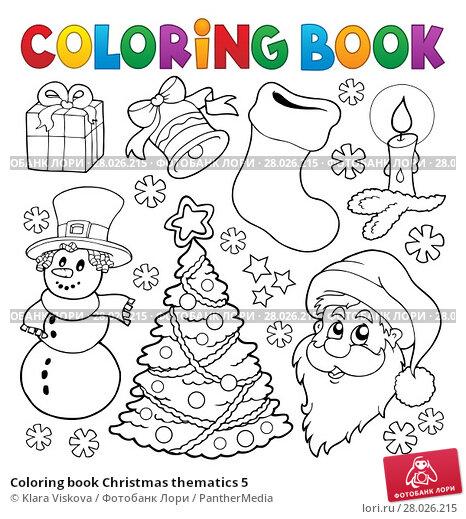 Coloring book Christmas thematics 5. Стоковая иллюстрация, иллюстратор Klara Viskova / PantherMedia / Фотобанк Лори
