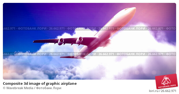 Купить «Composite 3d image of graphic airplane», фото № 26662971, снято 19 апреля 2018 г. (c) Wavebreak Media / Фотобанк Лори