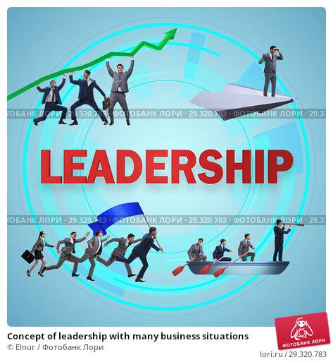 Купить «Concept of leadership with many business situations», фото № 29320783, снято 27 мая 2019 г. (c) Elnur / Фотобанк Лори