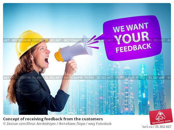 Concept of receiving feedback from the customers. Стоковое фото, фотограф Zoonar.com/Elnur Amikishiyev / easy Fotostock / Фотобанк Лори