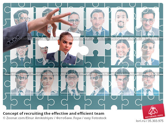 Concept of recruiting the effective and efficient team. Стоковое фото, фотограф Zoonar.com/Elnur Amikishiyev / easy Fotostock / Фотобанк Лори