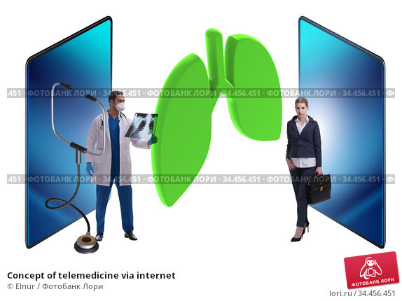 Concept of telemedicine via internet. Стоковое фото, фотограф Elnur / Фотобанк Лори