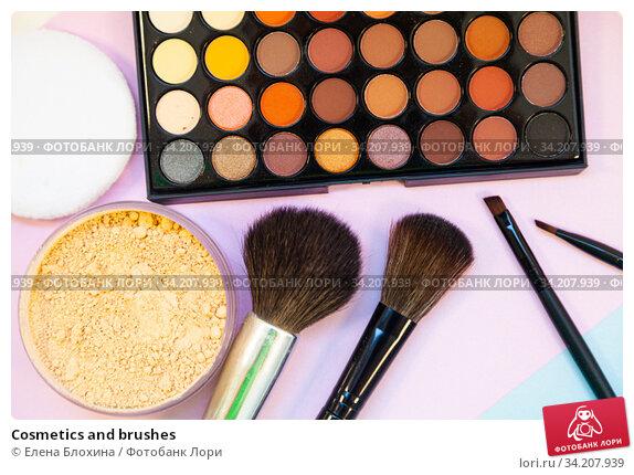 Cosmetics and brushes. Стоковое фото, фотограф Елена Блохина / Фотобанк Лори