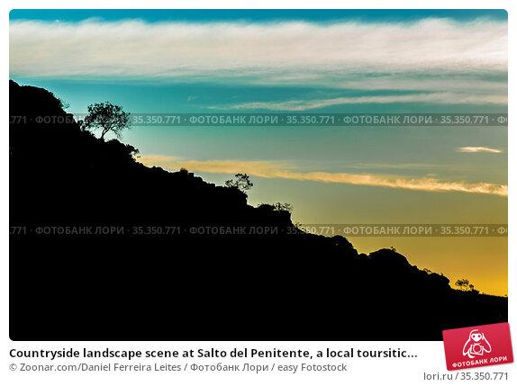 Countryside landscape scene at Salto del Penitente, a local toursitic... Стоковое фото, фотограф Zoonar.com/Daniel Ferreira Leites / easy Fotostock / Фотобанк Лори