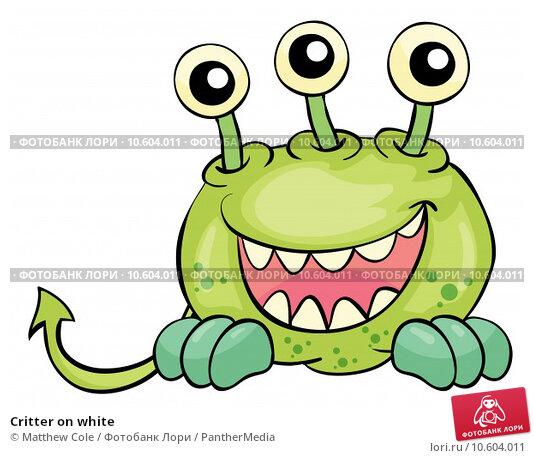 Critter on white. Стоковая иллюстрация, иллюстратор Matthew Cole / PantherMedia / Фотобанк Лори