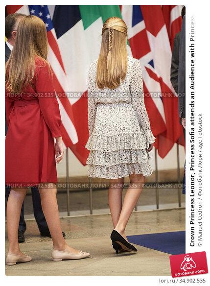 Crown Princess Leonor, Princess Sofia attends an Audience with Princess... Редакционное фото, фотограф Manuel Cedron / age Fotostock / Фотобанк Лори