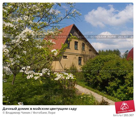 Дачный домик в майском цветущем саду, эксклюзивное фото № 283307, снято 11 мая 2008 г. (c) Владимир Чинин / Фотобанк Лори