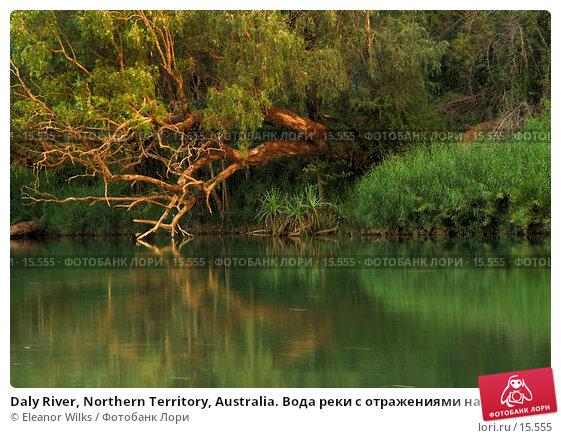 Daly River, Northern Territory, Australia. Вода реки с отражениями на закате, фото № 15555, снято 25 декабря 2006 г. (c) Eleanor Wilks / Фотобанк Лори