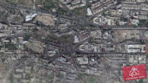 Купить «Дамаск при приближении из космоса. Сирия», видеоролик № 28306195, снято 16 апреля 2018 г. (c) Евгений Ткачёв / Фотобанк Лори