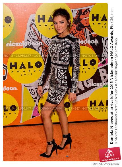 Купить «Daniela Nieves at arrivals for 2015 Nickelodeon HALO Awards, Pier 36, new, NY November 14, 2015. Photo By: Steven Ferdman/Everett Collection», фото № 28930647, снято 14 ноября 2015 г. (c) age Fotostock / Фотобанк Лори