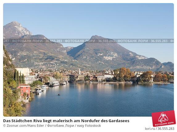 Das Städtchen Riva liegt malerisch am Nordufer des Gardasees. Стоковое фото, фотограф Zoonar.com/Hans Eder / easy Fotostock / Фотобанк Лори