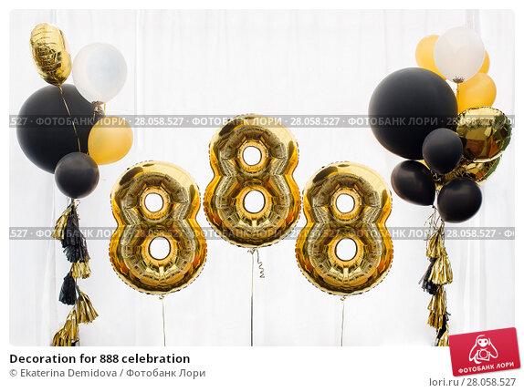 Купить «Decoration for 888 celebration», фото № 28058527, снято 5 июня 2016 г. (c) Ekaterina Demidova / Фотобанк Лори