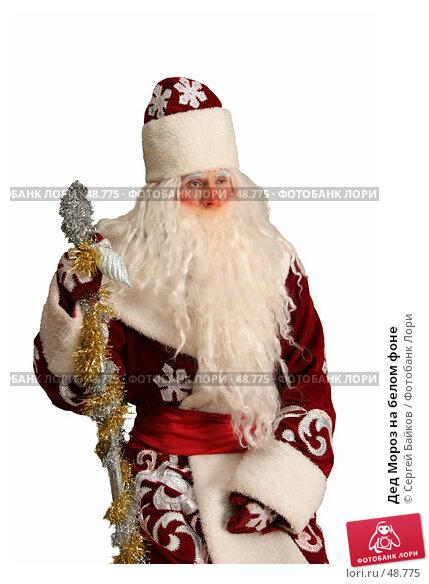 Дед Мороз на белом фоне, фото № 48775, снято 23 октября 2005 г. (c) Сергей Байков / Фотобанк Лори
