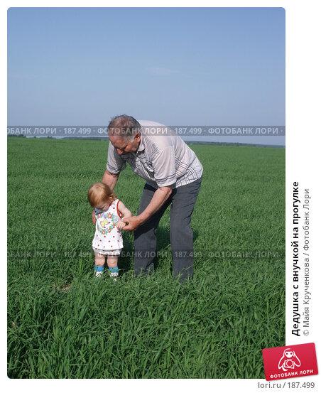 Дедушка с внучкой на прогулке, фото № 187499, снято 27 мая 2007 г. (c) Майя Крученкова / Фотобанк Лори