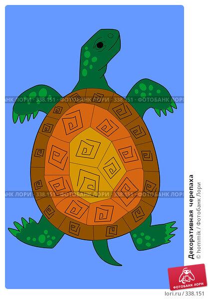 Декоративная  черепаха, иллюстрация № 338151 (c) hommik / Фотобанк Лори