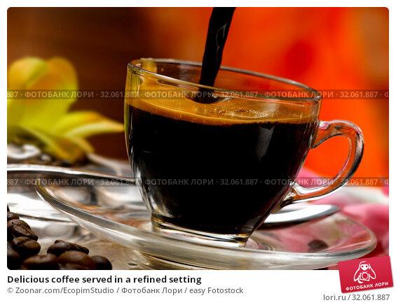 Delicious coffee served in a refined setting. Стоковое фото, фотограф Zoonar.com/EcopimStudio / easy Fotostock / Фотобанк Лори