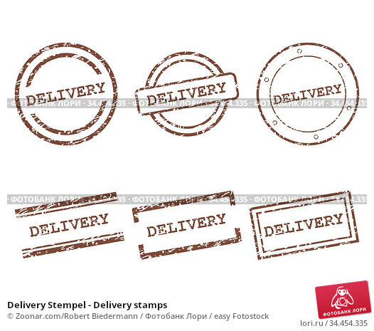 Delivery Stempel - Delivery stamps. Стоковое фото, фотограф Zoonar.com/Robert Biedermann / easy Fotostock / Фотобанк Лори