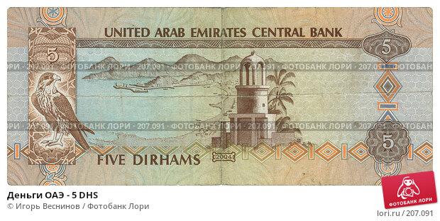 Деньги ОАЭ - 5 DHS, фото № 207091, снято 21 января 2017 г. (c) Игорь Веснинов / Фотобанк Лори