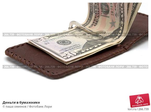 Деньги в бумажнике, фото № 266739, снято 17 марта 2008 г. (c) паша семенов / Фотобанк Лори