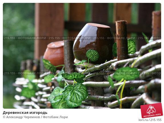 Деревенская изгородь, фото № 215155, снято 25 мая 2006 г. (c) Александр Черемнов / Фотобанк Лори