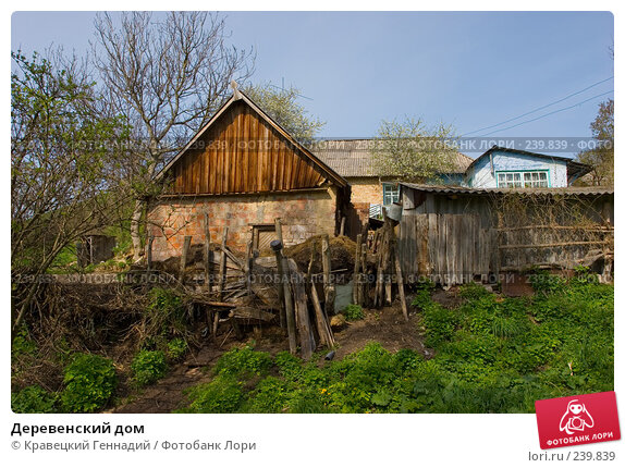 Деревенский дом, фото № 239839, снято 18 августа 2017 г. (c) Кравецкий Геннадий / Фотобанк Лори