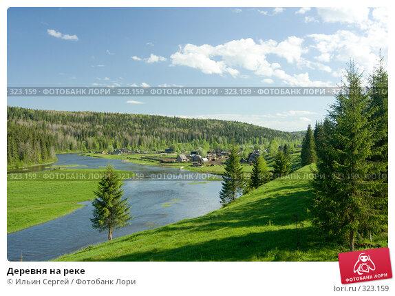 Деревня на реке, фото № 323159, снято 14 июня 2008 г. (c) Ильин Сергей / Фотобанк Лори