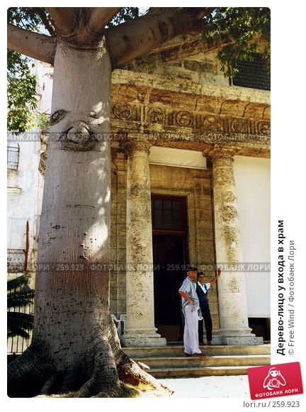 Купить «Дерево-лицо у входа в храм», эксклюзивное фото № 259923, снято 25 мая 2018 г. (c) Free Wind / Фотобанк Лори