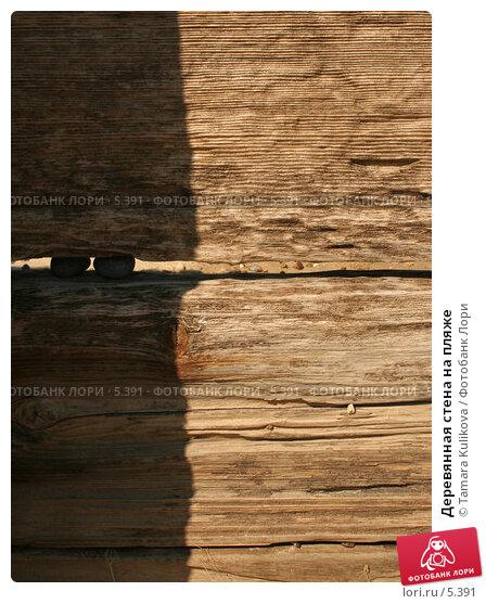 Деревянная стена на пляже, фото № 5391, снято 2 июля 2006 г. (c) Tamara Kulikova / Фотобанк Лори