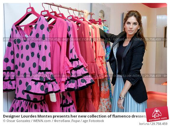 Купить «Designer Lourdes Montes presents her new collection of flamenco dresses Miabril Featuring: Lourdes Montes Where: Madrid, Spain When: 21 Feb 2018 Credit: Oscar Gonzalez/WENN.com», фото № 29758459, снято 21 февраля 2018 г. (c) age Fotostock / Фотобанк Лори
