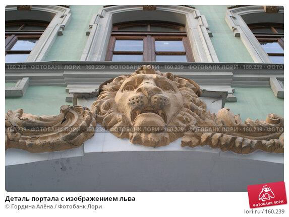 Деталь портала с изображением льва, фото № 160239, снято 18 ноября 2007 г. (c) Гордина Алёна / Фотобанк Лори
