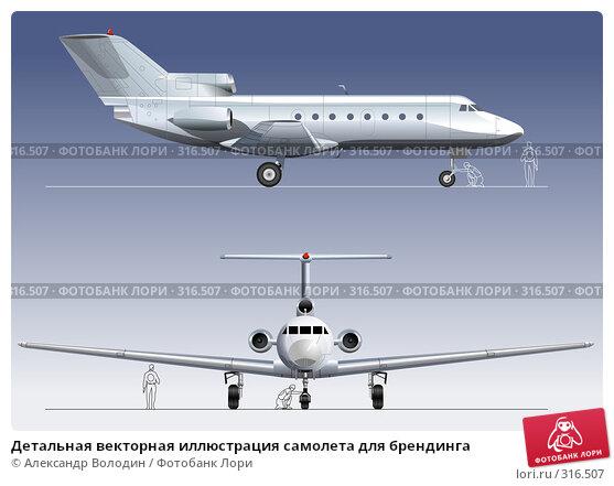 Детальная векторная иллюстрация самолета для брендинга, иллюстрация № 316507 (c) Александр Володин / Фотобанк Лори